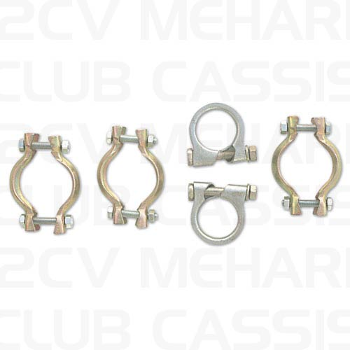 exhaust clamp set 2CV/AMI/DYANE/MEHARI