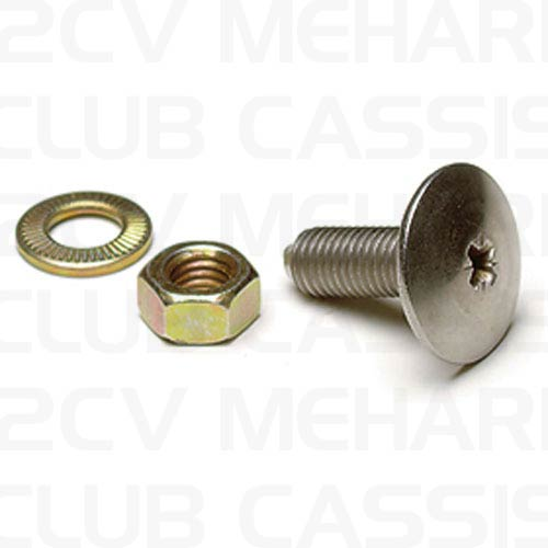 Screw/nut/ring chrome 2CV / AMI / DYANE / MEHARI