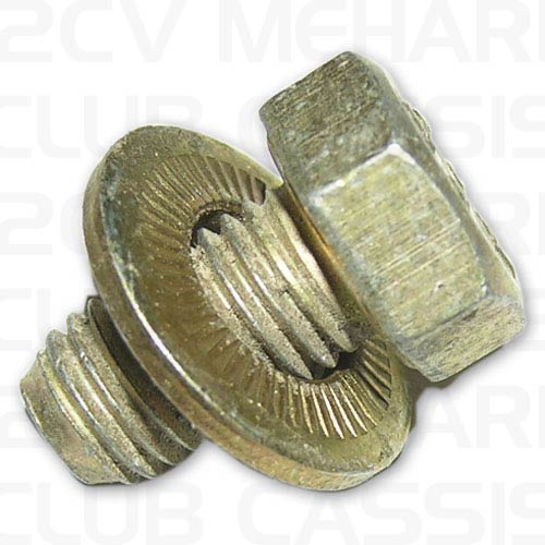Screw support shock absorber (x3) 2CV/AMI/DYANE/MEHARI