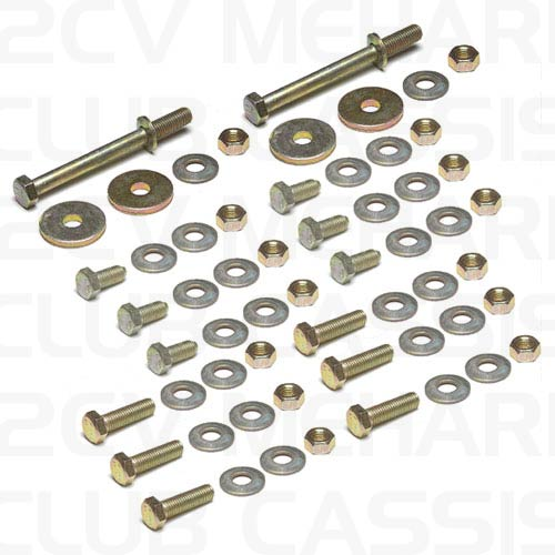 Set fixation screws rear tubulaire frame MEHARI