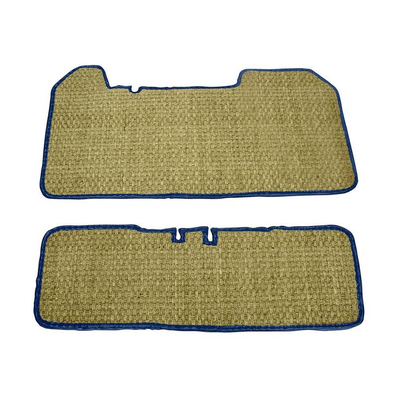Carpets Mehari braided with blue marine edges (front & back - 4 places)