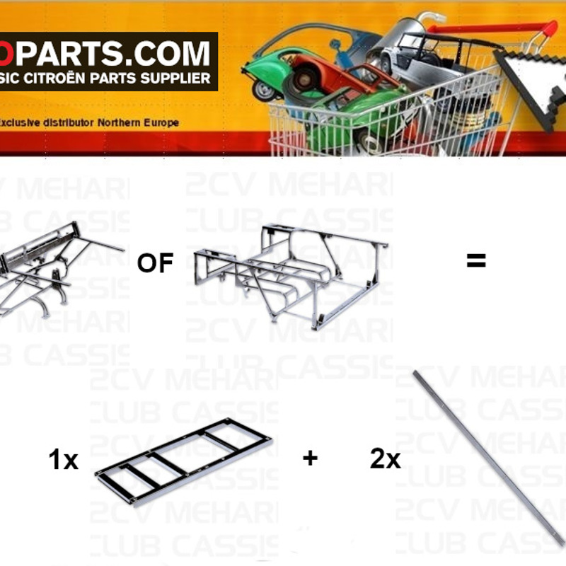 Promo n°2a: Tubular frame rear galvanised MEHARI 4x2 buy = Support seat galvanize MEHARI 4x2 + Reinforcement side bar galvanised MEHARI (2x) FOR FREE