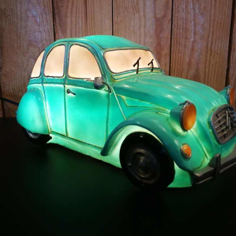 Table lamp Citroën 2CV green