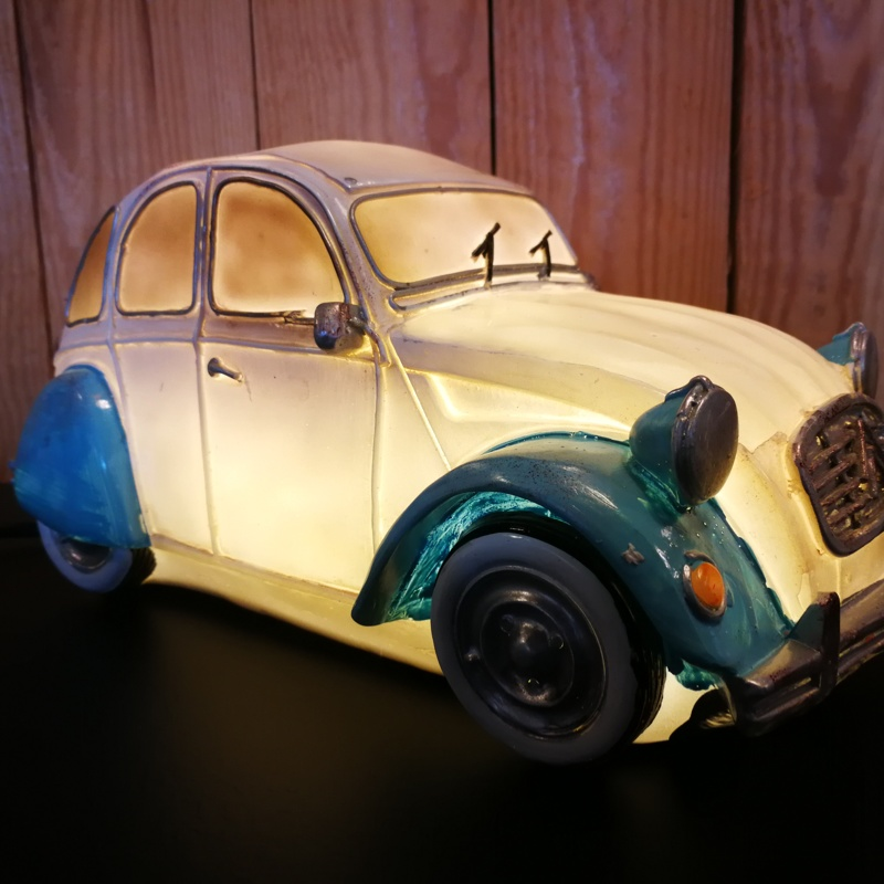 Table lamp 2CV blue white