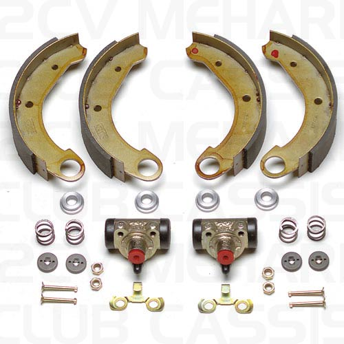 Rear brakes set 09 DOT 2CV / AMI / DYANE / MEHARI