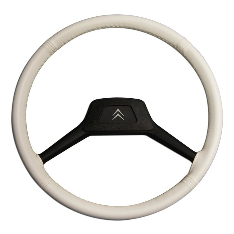 Steering cover small model (39 cm) white 2CV/AMI/DYANE/MEHARI